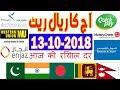 Today Saudi Riyal Currency Exchange Rates - 13-10-2018 | Tahweel al Rajhi | Enjaz | Fawri | NCB