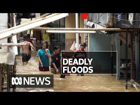 Floods in Indonesia's capital kill 21 people and force thousands to evacuate | ABC News
