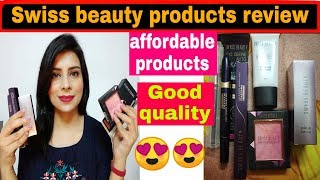 Swiss beauty one brand makeup products review  | AFFORDABLE MAKEUP HAUL