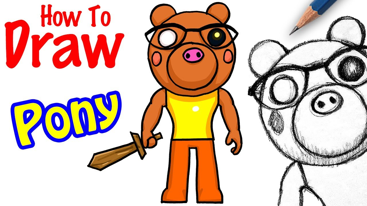 Drawing Piggy Roblox Characters Animated