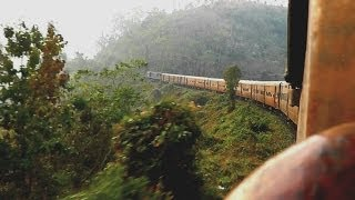 Mesmerizing Morning Metre Gauge Run - Agartala-Lumding Exp. (Feb. 28, 2013)