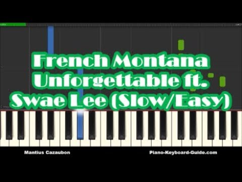 French Montana - Unforgettable Ft Swae Lee - Slow Easy Piano Tutorial   How To Play