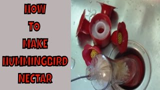How To Make Hummingbird Nectar