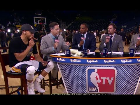 Here's why Steph Curry was smoking a cigar when he went on NBA TV