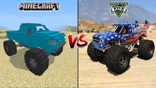 MINECRAFT MONSTER TRUCK VS GTA 5 MONSTER TRUCK - WHICH IS BEST?