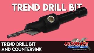 Trend drill bit and countersink