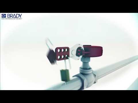 Lockout-tagout-shop - Brady gate valve lockout