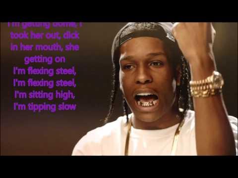 "A$AP ROCKY : ""PURPLE SWAG"" (LYRICS)"