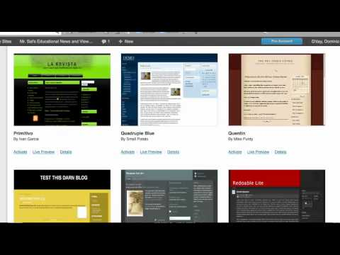 How To Edit Theme and Widgets in Edublogs