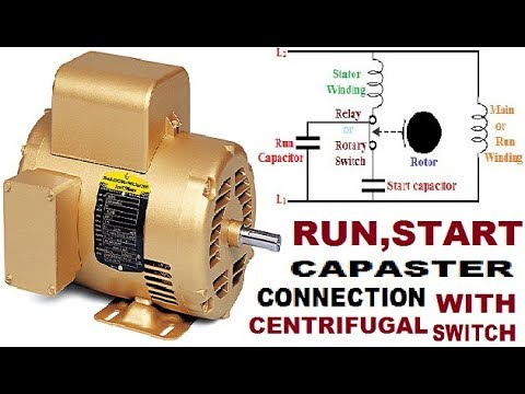 single phase motor connection with ! centrifugal switch ! start