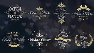 8 Winter Wedding Labels Motion Graphics Templates