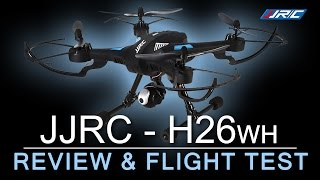 CHEAPEST WIFI DRONE with Altitude Hold - JJRC H26wh - Flight Review