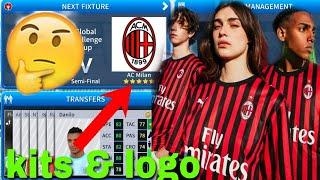 Dream League Soccer 2019 How To Make AC Milan Team Kits & Logo ...