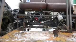 Конструкция простого бортоповоротного вездехода