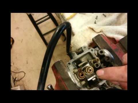 xt225 carburetor removal install rebuld - YouTube on