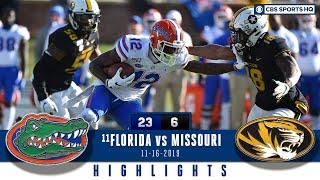 #11 Florida vs Missouri Highlights: A stingy Florida defense beats Missouri, 23-6 | CBS Sports HQ Video