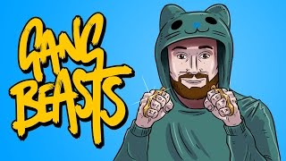 CAT MAN VS CAT LADY - FIGHT! - Gang Beast Funny Gameplay Moments