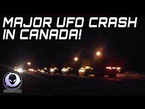 ALERT! MAJOR UFO CRASH IN CANADA! MILITARY DENIES ALIEN COVERUP 2015