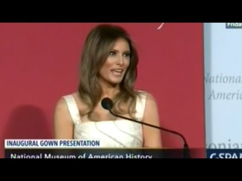 First Lady Melania Trump Donates Inaugural Gown To Smithsonian Museum