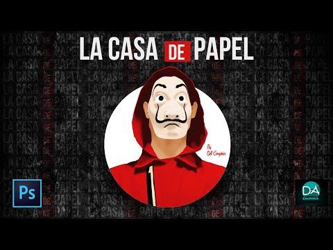 MONEY HEIST (LA CASA DE PAPEL) PHOTOSHOP VECTOR ART TIMELAPSE/SPEED ART VIDEO