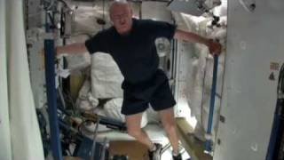 NASA Working Out Aboard the Space Station ISS