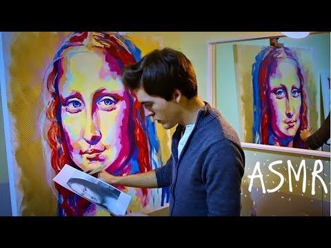 ASMR 🎨 Let's paint the Mona Lisa 🎨 Pure Whisper (ENGLISH)