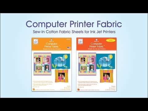 image relating to Ink Jet Printable Fabric named Pc Printer Cloth - YouTube
