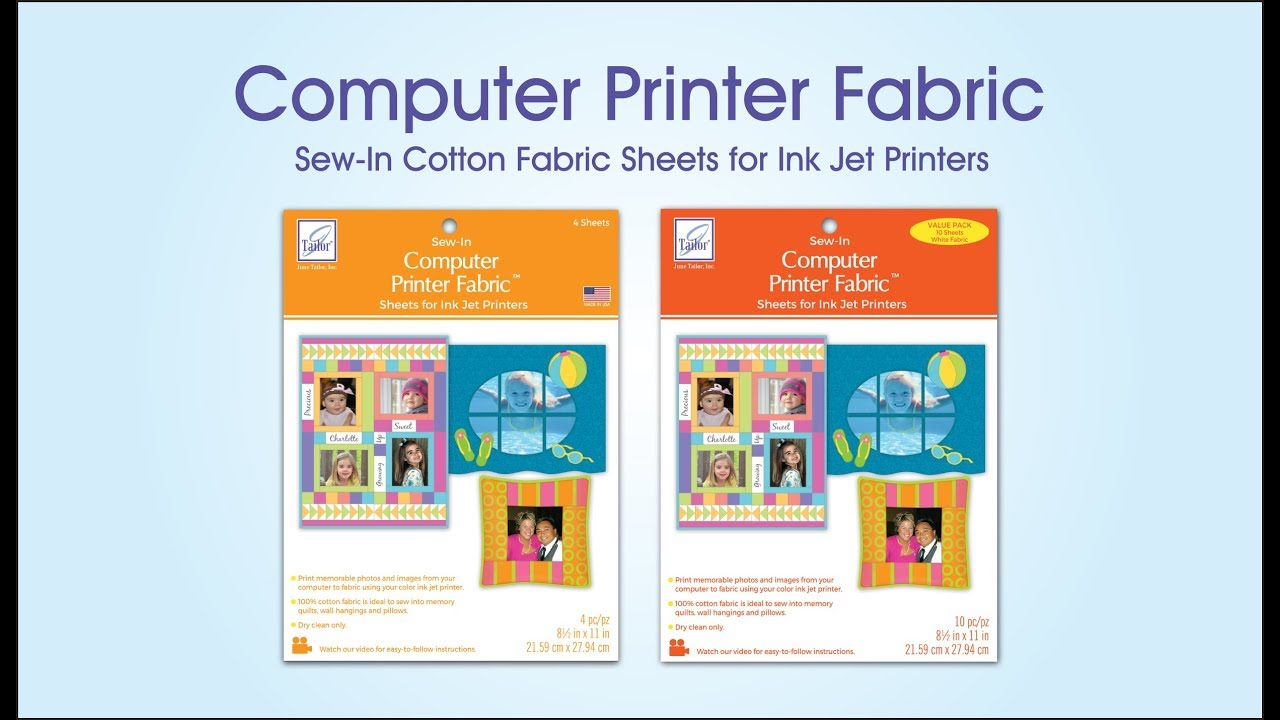 graphic relating to Printable Fabric Sheets for Inkjet Printers named Laptop or computer Printer Material