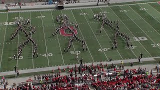 Ohio State Marching Band wows with Dance Dance Dance halftime show