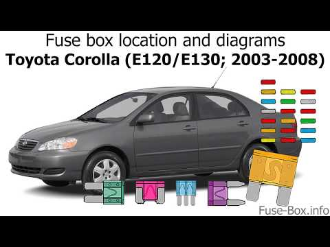 [DIAGRAM_38YU]  Fuse box location and diagrams: Toyota Corolla (2003-2008) - YouTube | 2008 Corolla Fuse Box |  | YouTube