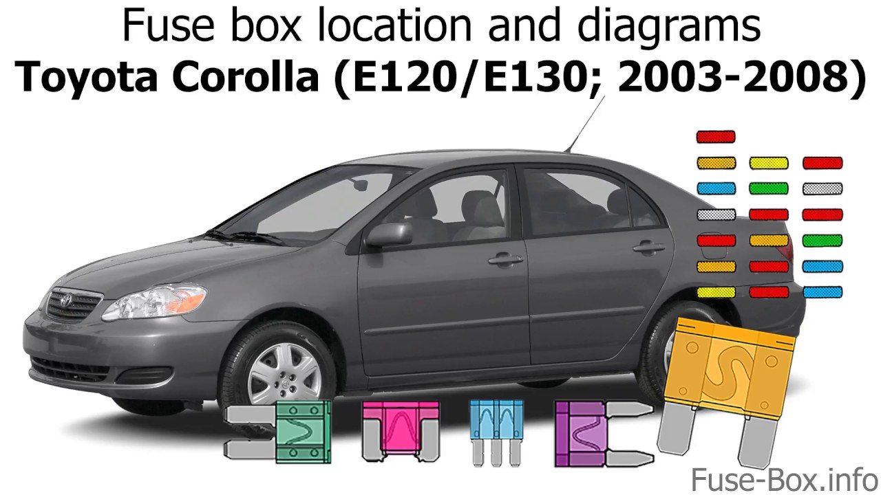 [SCHEMATICS_4LK]  Fuse box location and diagrams: Toyota Corolla (2003-2008) - YouTube | 2008 Corolla Fuse Box |  | YouTube