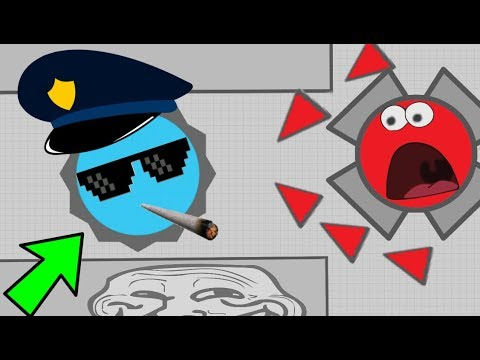Diep.io FUNNY POLICE TROLL // INSANE FUUNIEST MOMENTS // FT Wormate.io