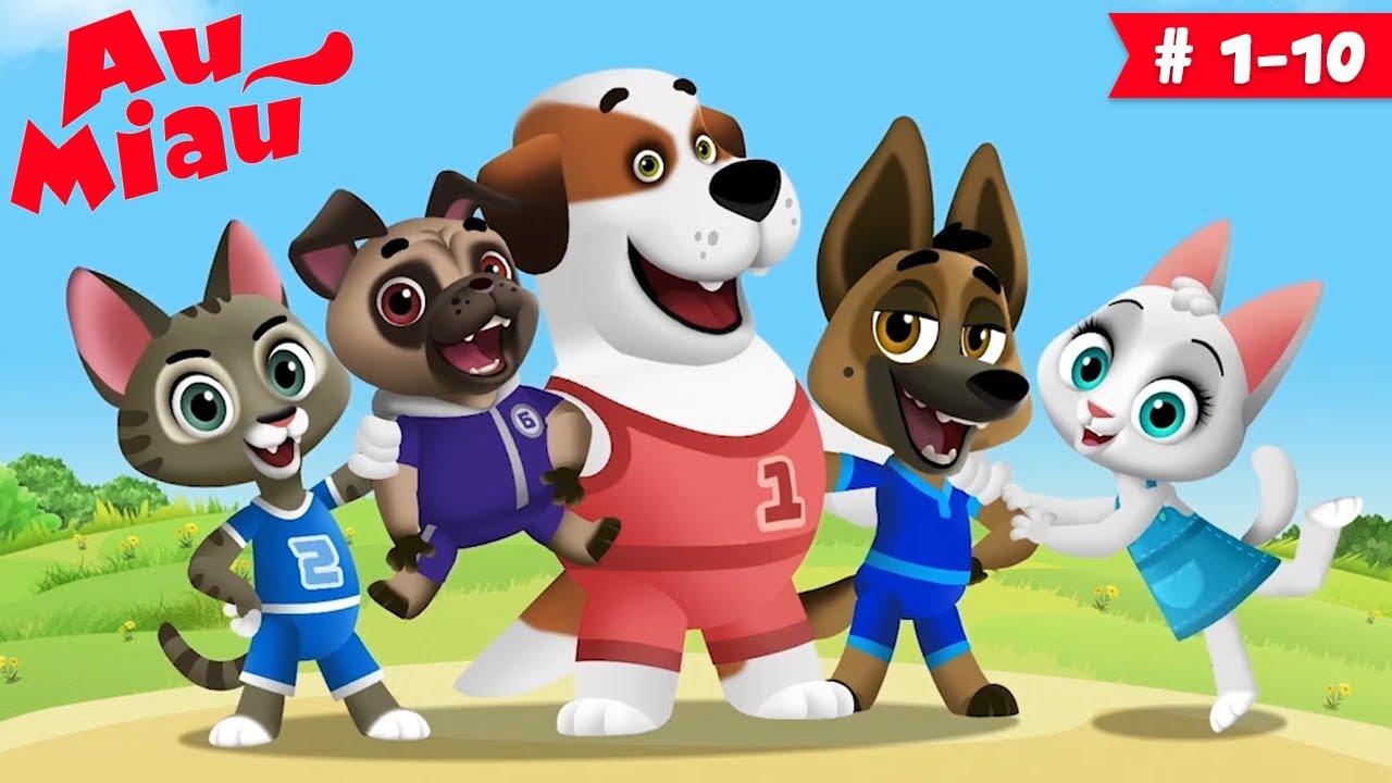 Au Miau ? Desenhos animados em Português - 60 minutos