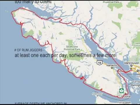 Daily Progress Sailing around Vancouver Island