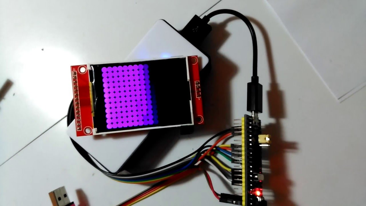 STM32duino: STM32F103 128Mhz overclock test with ILI9341  by Rui Rex