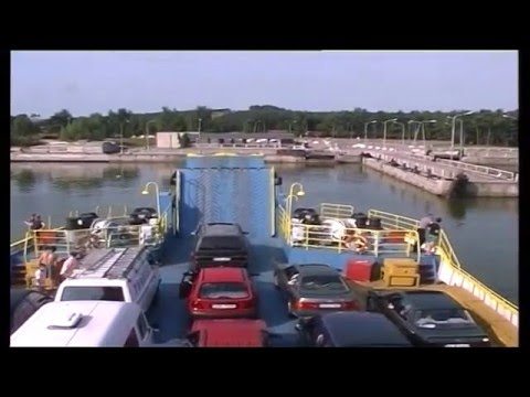 Ferry to Curonian spit, Klaipeda, Lithuania