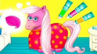 Pony Sisters in Hair Salon Games For Girls - Pony Sisters Hair Color Style Salon Makeover Games