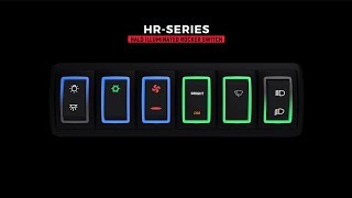 HR-Series Halo Illuminated Sealed Rocker Switch