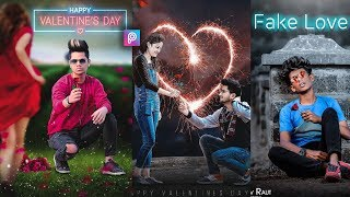 PicsArt Happy Valentine Day Photo Editing Tutorial in picsart Step by Step in Hindi - Taukeer Editz
