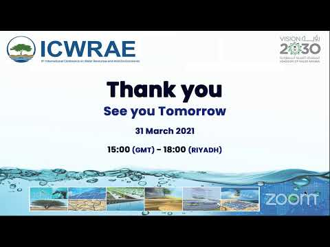 Session (A)  9th International Conference on Water Resources and Arid Environments  ICWRAE 9 Day 2