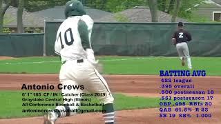 Antonio Crews - Updated Baseball Highlights - Class of 2019