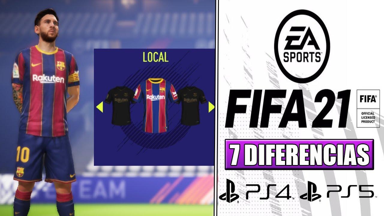 7 GRANDES DIFERENCIAS ENTRE LA VERSIÓN DE PS4 Y PS5 DE FIFA 21