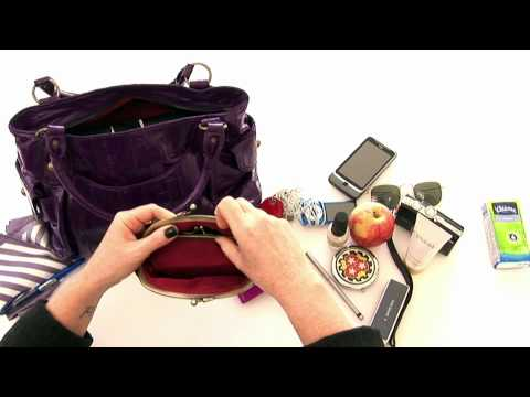 Purple Eel Skin Handbag