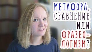 мЕТАФОРА и чем она отличается от СРАВНЕНИЯ и ФРАЗЕОЛОГИЗМА  ЕГЭ 2018  Русский язык  Литература