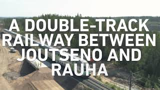 Building a double track railway in eastern Finland (Joutseno‒Rauha)
