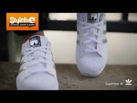 adidas Originals Superstar Women Sneaker white silver (On-Feet) @Stylefile