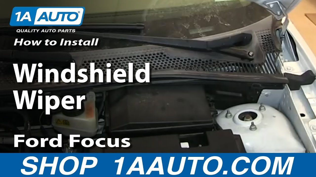 How To Install Replace Windshield Wiper Arm 2000 07 Ford