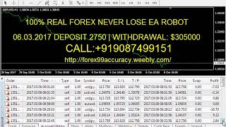 100% REAL FOREX NEVER LOSE EA ROBOT CALL:+919087499151