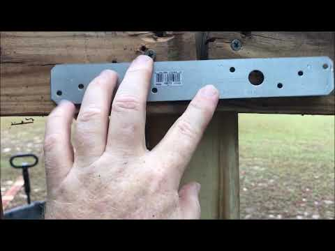 How to repair leaning bent fence post-DIY