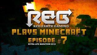 REG Plays Minecraft Episode #7 - A New Enemy (Extra-Life Marathon)
